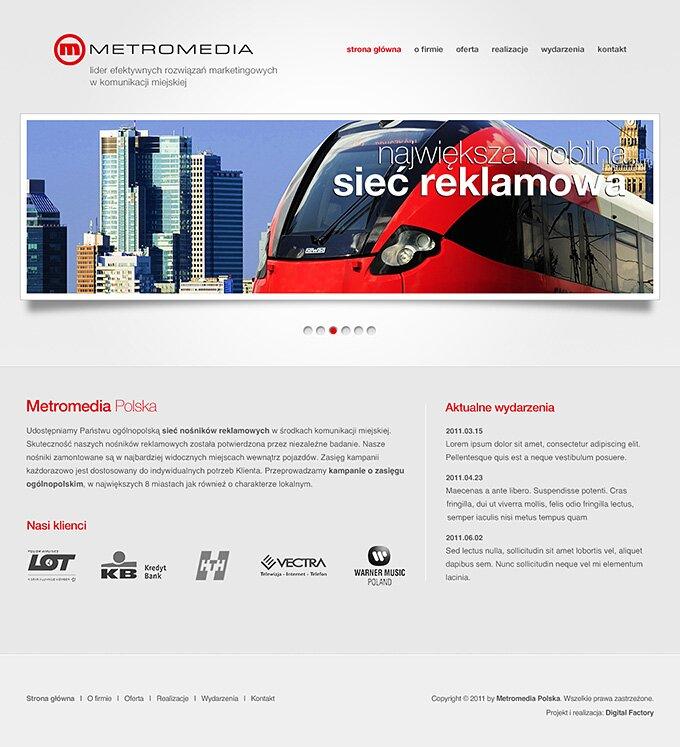 Metromedia Polska - strona www