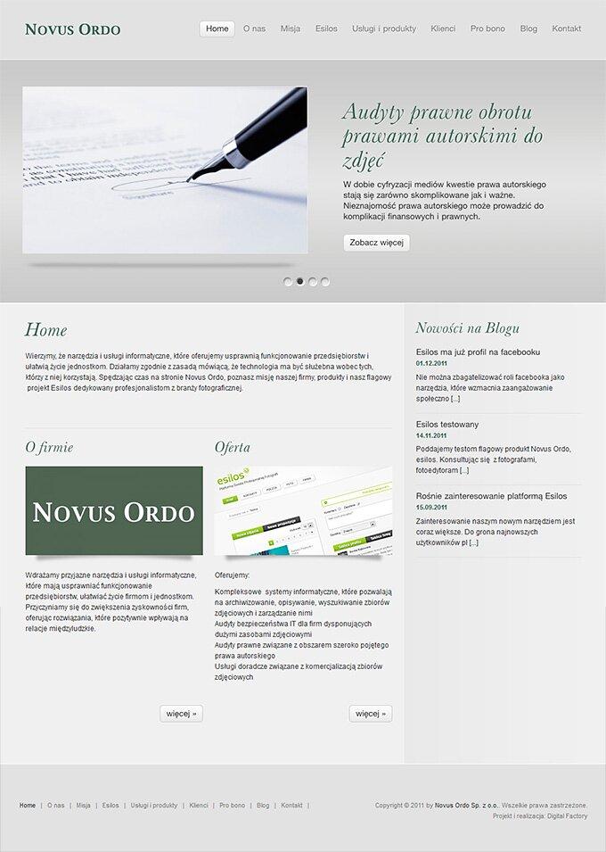 Novus Ordo - strona www