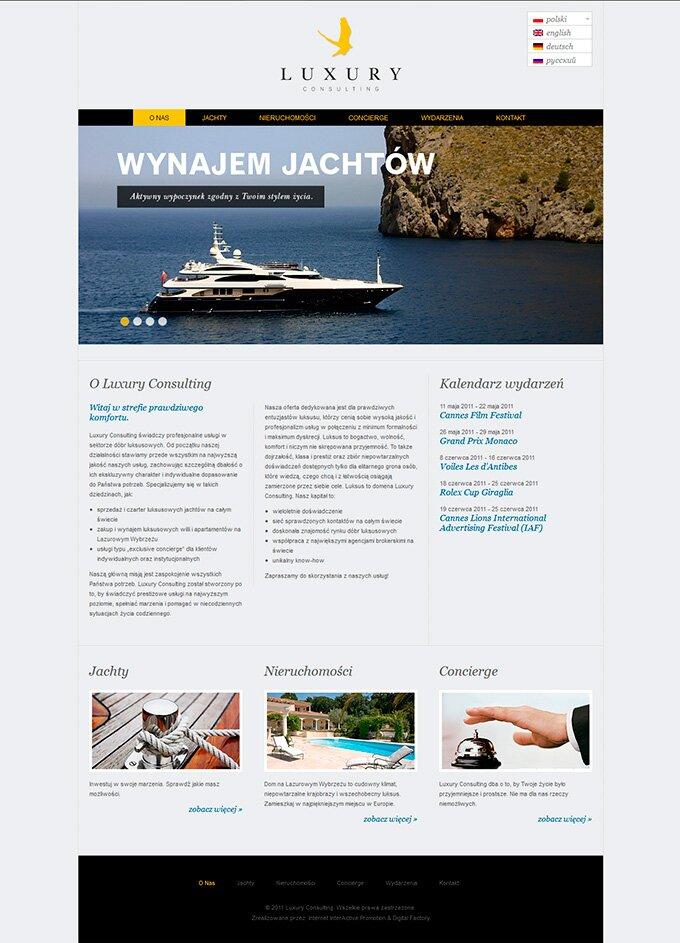 Luxury Consulting - strona www