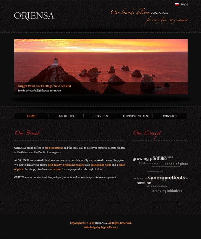 Oriensa - strona internetowa